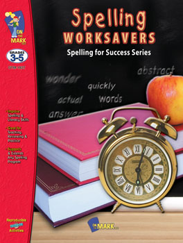 On The Mark Press OTM1827 Spelling Worksavers No.1 Gr. 3-5