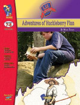 On The Mark Press OTM14174 Adventures of Huckle Berry Finn Lit Link Gr. 7-8