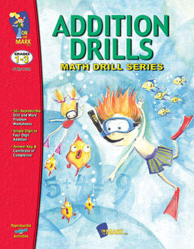 On The Mark Press OTM1128 Addition Drills Gr. 1-3