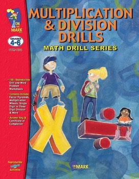 On The Mark Press OTM1132 Multiplication & Division Drills 4-6