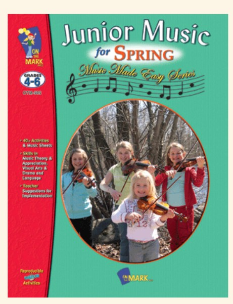 On The Mark Press OTM505 Junior Music for Spring Gr. 4-6