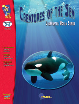 Explore the secrets of the underwater world with your students by using the ideas and activities in this unit. Students learn about whales  crustaceans  mammals  sea creature classifications  and beach fun as they improve phonics  word study  brainstorming  creative writing  art  reading  research and math skills. 47 activities  79 pages. Companion Product: Sea Creatures Picture Collection  OTM-1601.