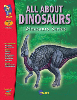 Acquaint your students with the various types of dinosaurs and the differences between them  while increasing their knowledge of the way our earth has evolved over centuries. Activities cover: math  phonics and research. Plus a reproducible student booklet and answer key. 57 activities  120 pages.  Companion Product: Dinosaur Picture Collection  SSPC-21.