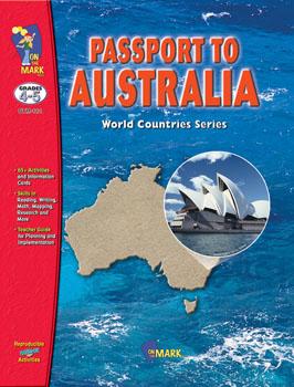 On The Mark Press OTM112 Passport to Australia Gr. 4-5