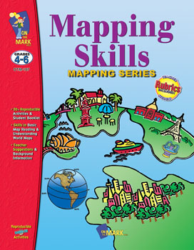 On The Mark Press OTM107 Mapping Skills Gr. 4-6