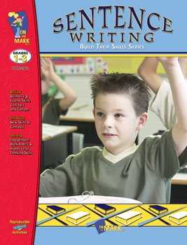 On The Mark Press OTM2502 Sentence Writing Workbook Gr. 1-3