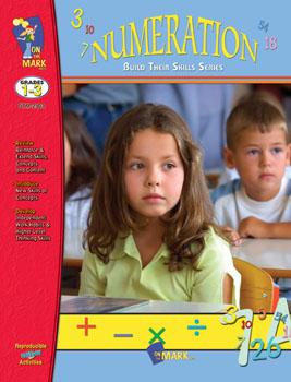 On The Mark Press OTM2503 Numeration Workbook Gr. 1-3