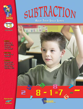 On The Mark Press OTM2505 Subtraction Workbook Gr. 1-3
