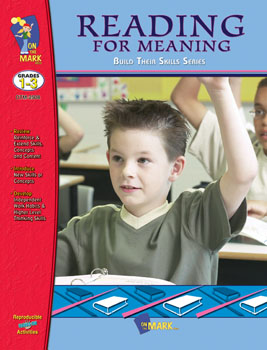 On The Mark Press OTM2508 Reading for Meaning Workbook Gr. 1-3