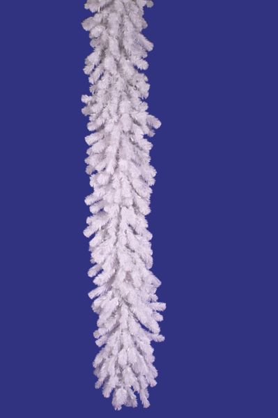 Vickerman A805815 9 X 16 Crystal White Garland 260 Tips
