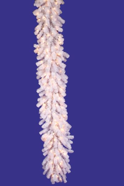 Vickerman A805819 9 X 20 Crystal White Garland 200CL
