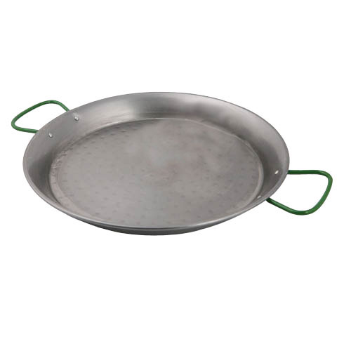 World Cuisine A4172490 Polished Carbon Steel  35.5 Inch Paella Pan with Four Handles