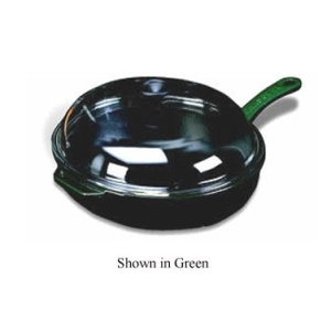 World Cuisine A1732030 11 Inch Chasseur Cast Iron Fry Pan with Handle and Lid in Green