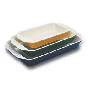 World Cuisine A1735228 Medium 1.75 Qt Green Rectangular Dish WDC4514