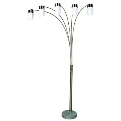 00ore3031f5w 83 Inch Brushed Steel Arch Floor Lamp