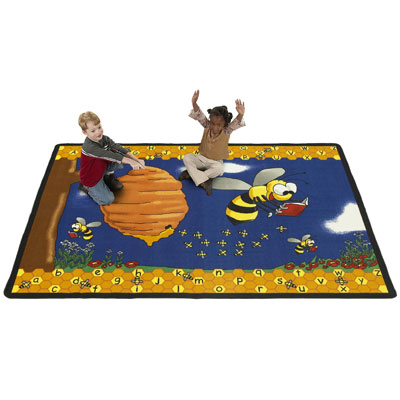 Flagship Carpets BBEE69 6 x 9 Ft Busy Bee Educational Rug