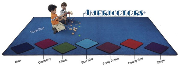 Flagship Carpets AMER1208OV-PP 12 x 8ft Oval Pretty Purple Americolors Educational Rug