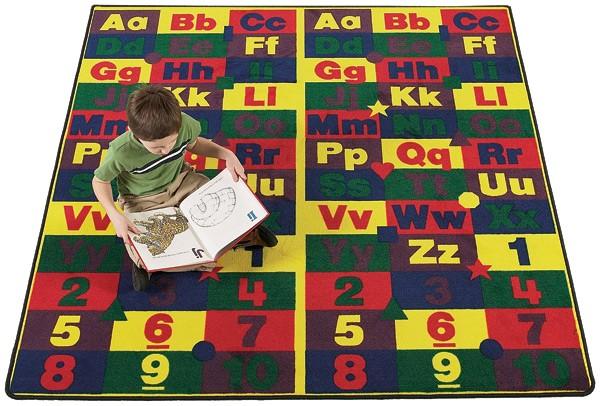 Flagship Carpets ABC1212 12 x 12 Ft ABC123's Educational Rug