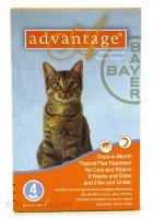 Image of Bayer ADVANTAGE4-ORANGE Advantage 4 Pack Cat 0 - 9 Lbs. - Orange