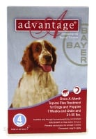 Image of Bayer ADVANTAGE4-RED Advantage 4 Pack Dog 21-55 Lbs. - Red