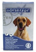Image of Bayer ADVANTAGE4-BLUE Advantage 4 Pack Dog 55 Lbs. & Up - Blue