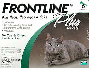 Merial FRONTLINEPLUS6-GREEN Frontline Plus 6 Pack Cats All Sizes - Green