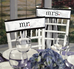 Hortense B. Hewitt 20146 Together Mr & Mrs Chair Sashes