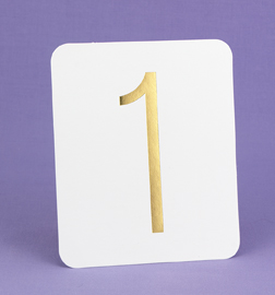 Hortense B. Hewitt 23450 Gold Foil Table Numbers