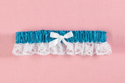 Hortense B. Hewitt 73040 Sapphire Ribbon & Lace Garter