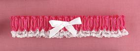 Hortense B. Hewitt 73064 Fuchsia Ribbon & Lace Garter