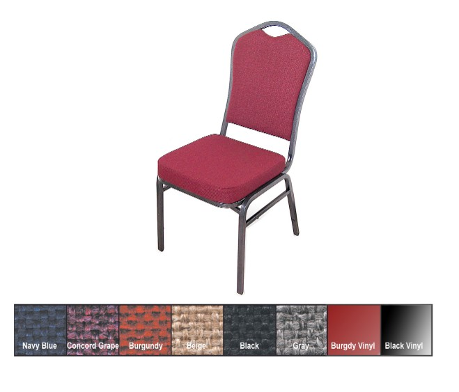 McCourt 10375 Superb Seating Stack Chair - Beige on Silvervein Frame