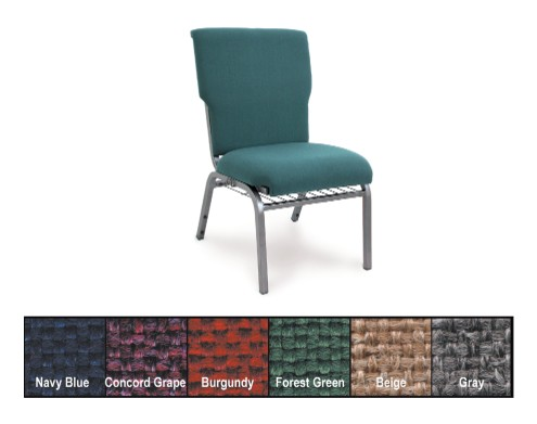McCourt 10570 Auditorium Stacking Pew Chair - Beige on Silvervein Frame