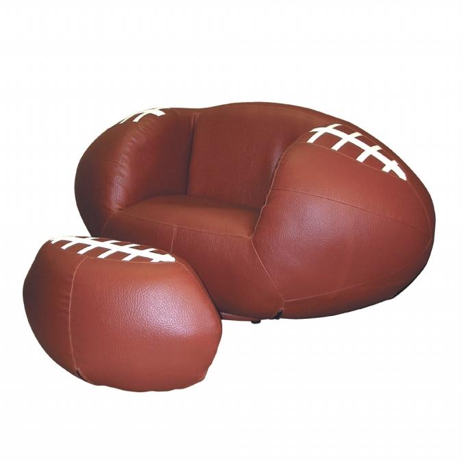 Ore International R2015 Football Chair & Ottoman Set