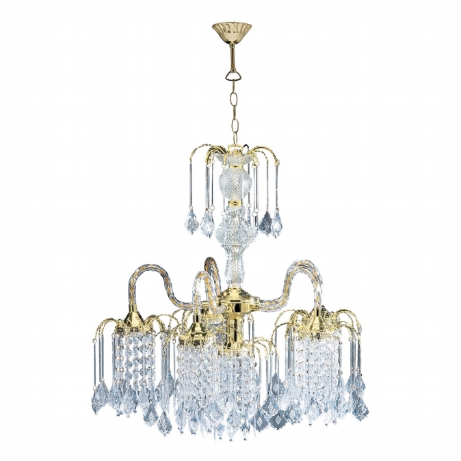 Ore International 1966G Polished Brass Finish Chandelier