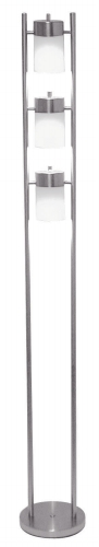 Ore International 3031FW 3-Light Adjustable Floor Lamp - White
