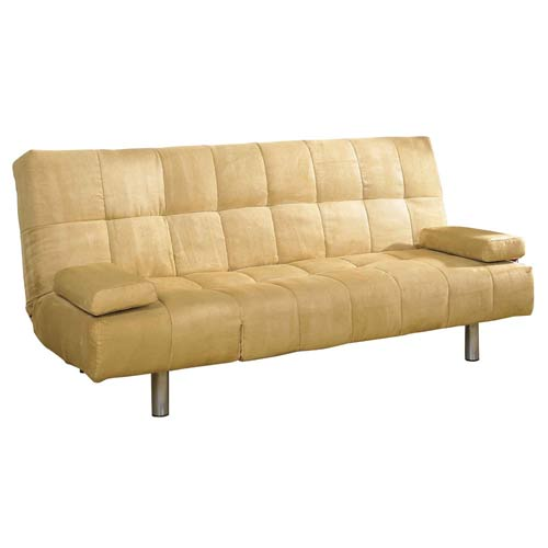 Ore International R8113CAM Straight Leg Futon Sofa Bed - Camel
