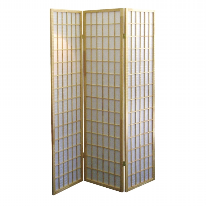 Ore International R531 3-Panel Room Divider - Natural