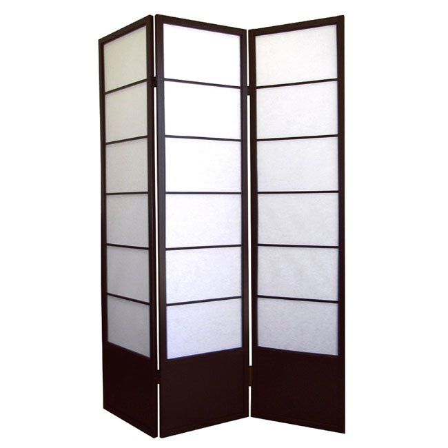 Ore International R5419 Shogun 3-Panel Room Divider - Espresso