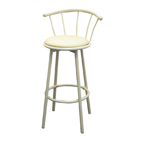 Ore International R543 IV Set of 2 Swivel Barstools - Ivory