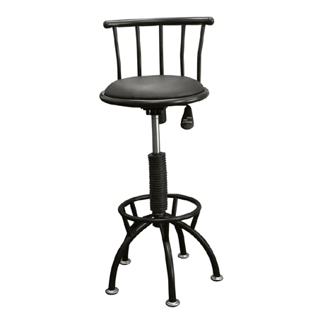 Ore International R651 BK Adj-Height Swivel Barstool - Black