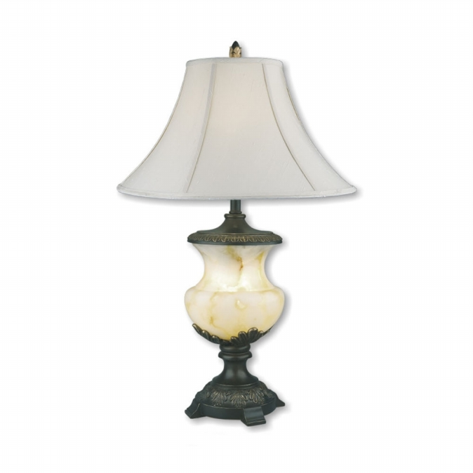 Ore International 8193 32   Alabaster Table Lamp & Night Light