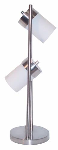 Ore International 3031TW 2-Light Adjustable Table Lamp - White