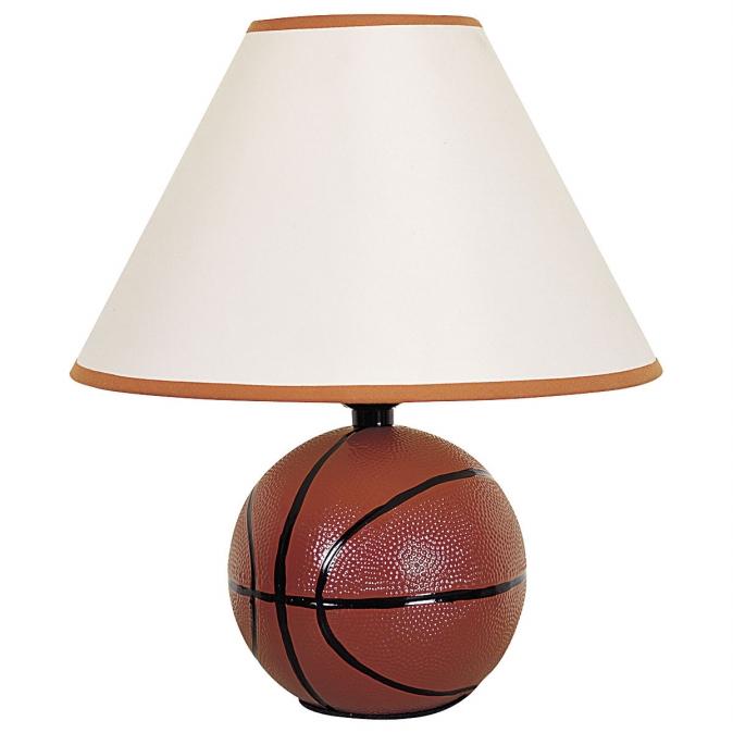 Ore International 604BA Ceramic Basketball Table Lamp