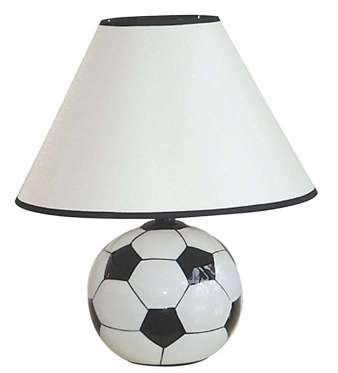Ore International 604SC Ceramic Soccer Ball Table Lamp