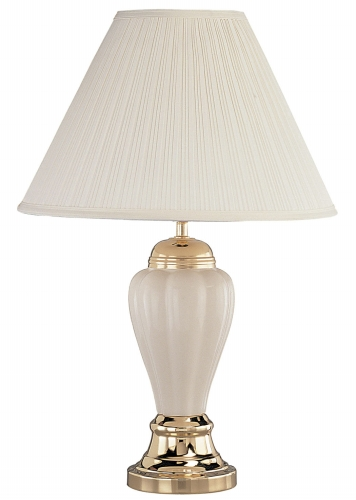 Ore International 6117IV 27   Ceramic Table Lamp - Ivory ORE209