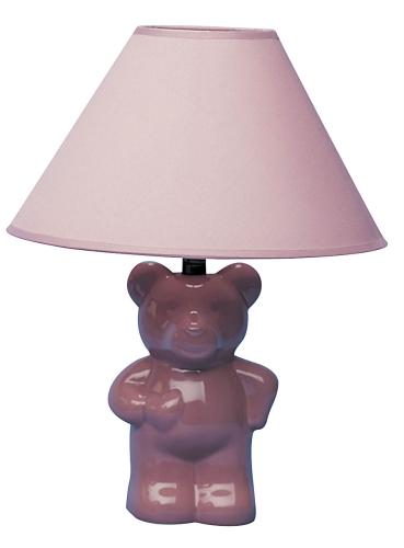 Ore International 611PK Ceramic Teddy Bear Lamp - Pink ORE221