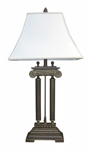 Ore International 8024T Home D?cor Table Lamp - Brushed Ivory -38