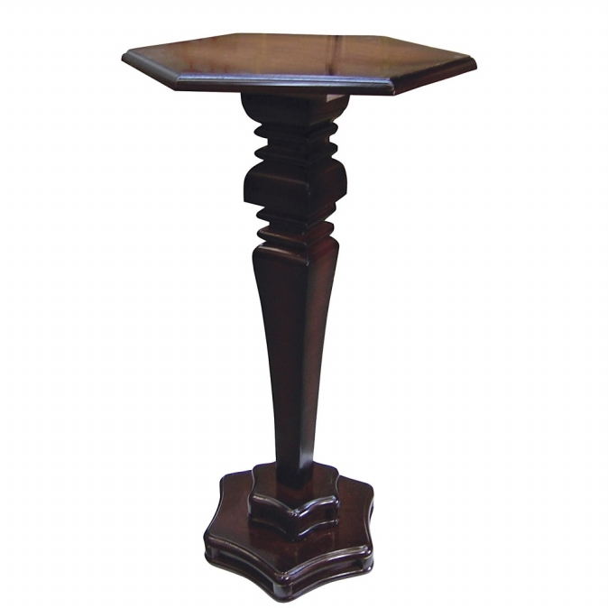 Ore International H-126 Hexagon End Table - Cherry -27.5