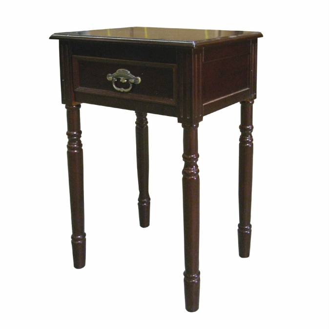 Ore International H-129N Square End Table - Cherry