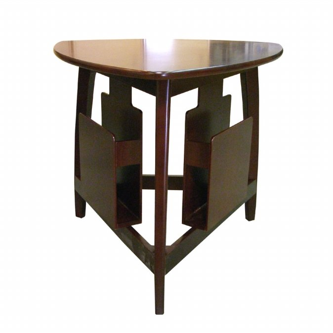 Ore International H-135 Magazine Table - Cherry